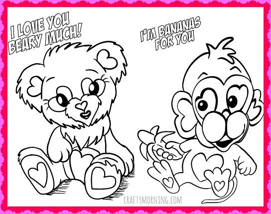 free valentine coloring pages printable valentines day for