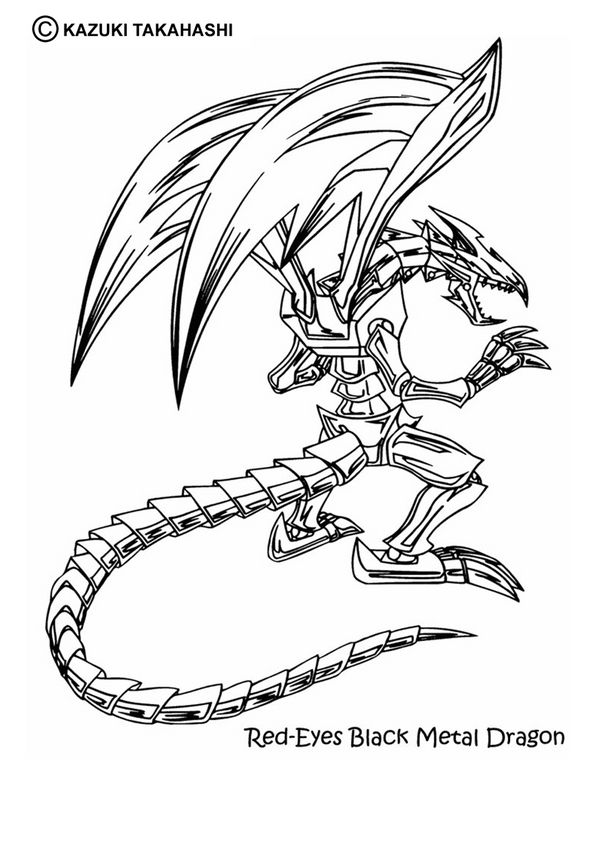 free yu gi oh coloring pages dragon coloring page