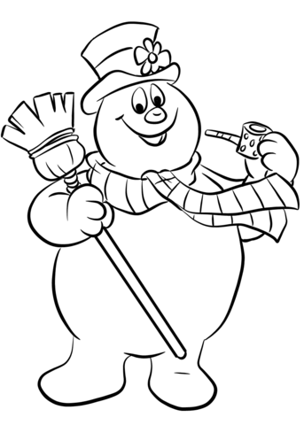 frosty the snowman coloring page from frosty the snowman