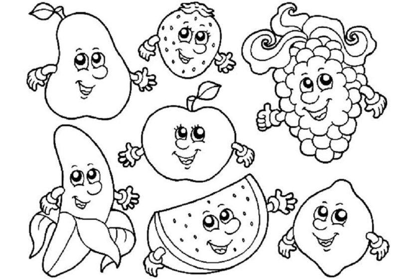 fruit coloring pages with faces malvorlagen malvorlagen