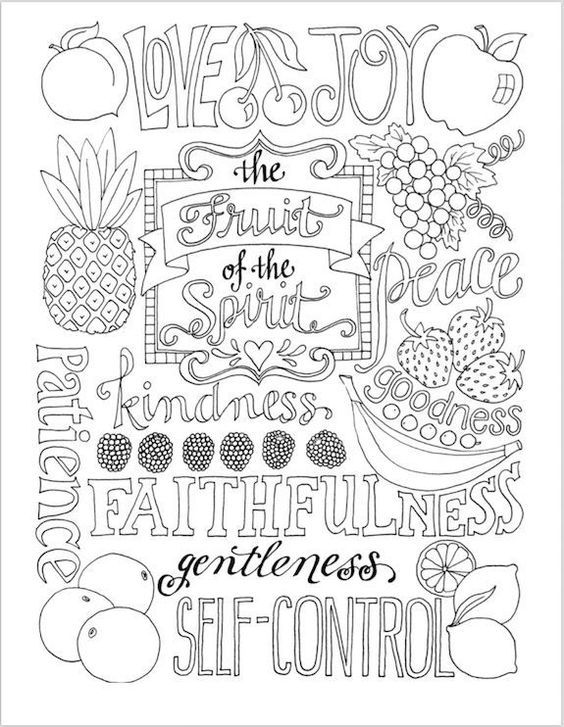 fruit of the spirit coloring page malvorlagen