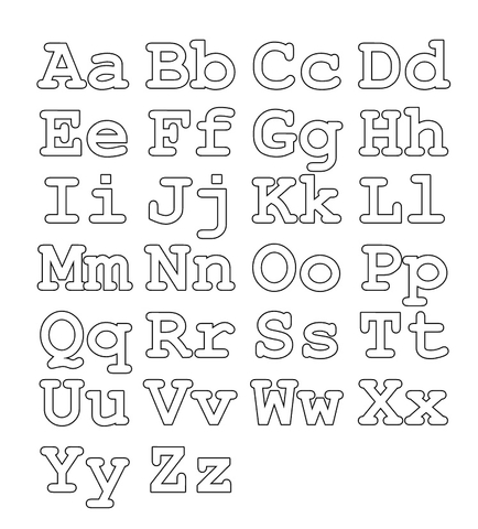 full alphabet worksheet capital and small letters coloring