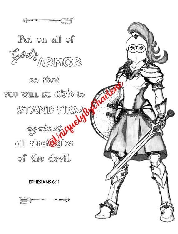 full armor of god coloring pages digital copy