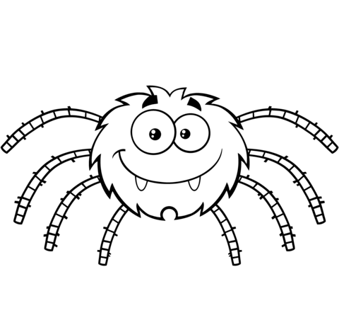 funny cartoon spider coloring page free printable coloring