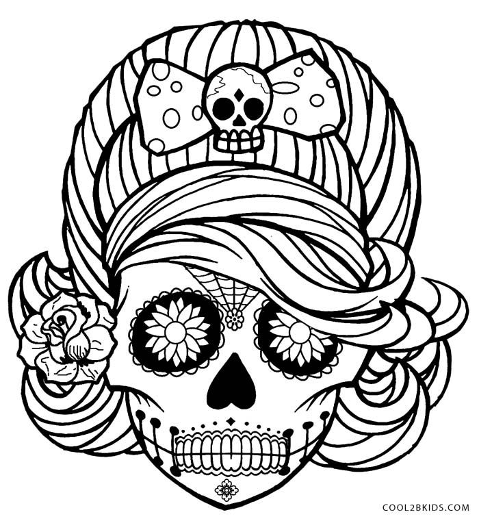 gallery images of creepy coloring pages colouring skull