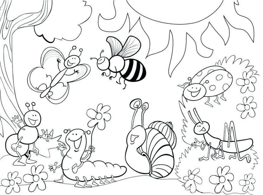 garden coloring pages for kids printable