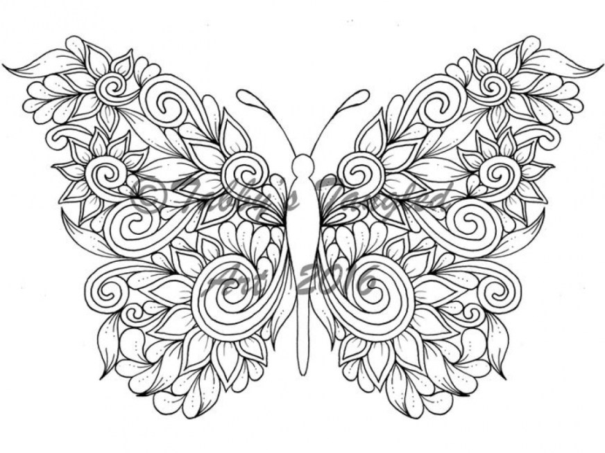 get this adult butterfly coloring pages to print 21674