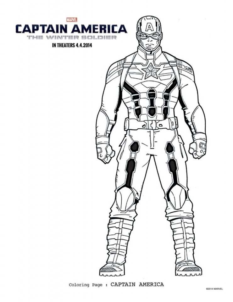 Captain America Coloring Pages Pictures Whitesbelfast