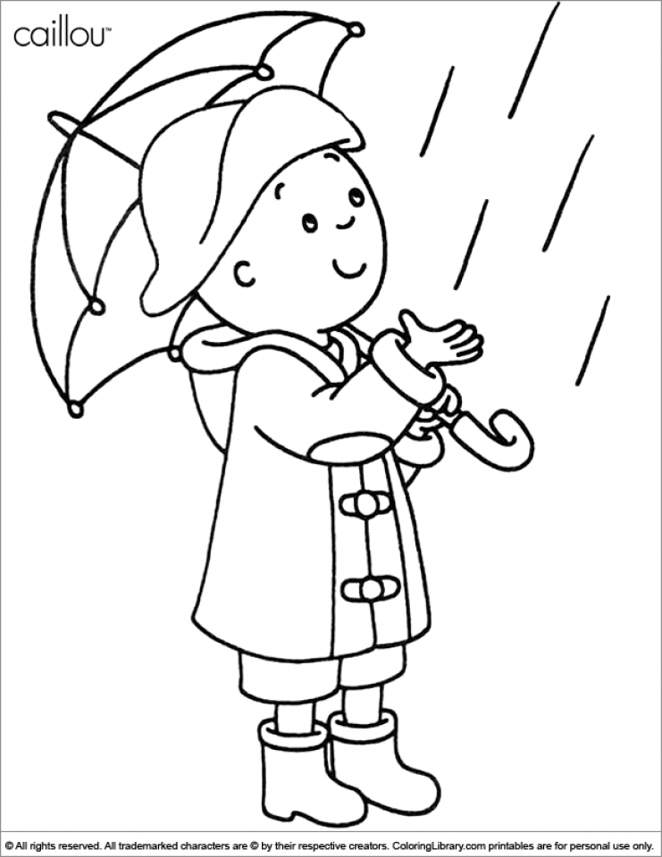 get this free caillou coloring pages to print v5qom