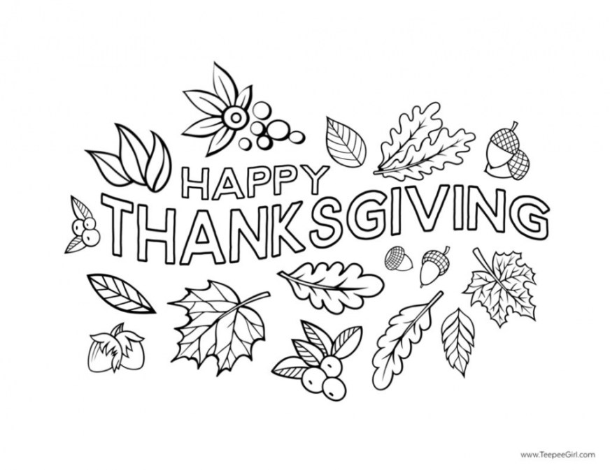 get this happy thanksgiving coloring pages free printable