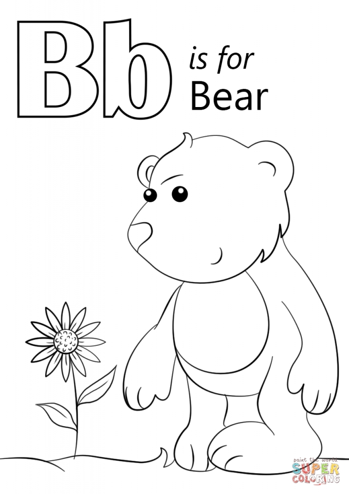 get this letter b coloring pages bear 7vb3m