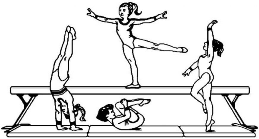 get this printable gymnastics coloring pages yzost