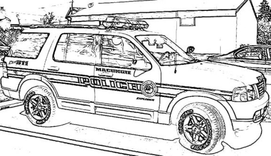 get this printable police car coloring pages 77764