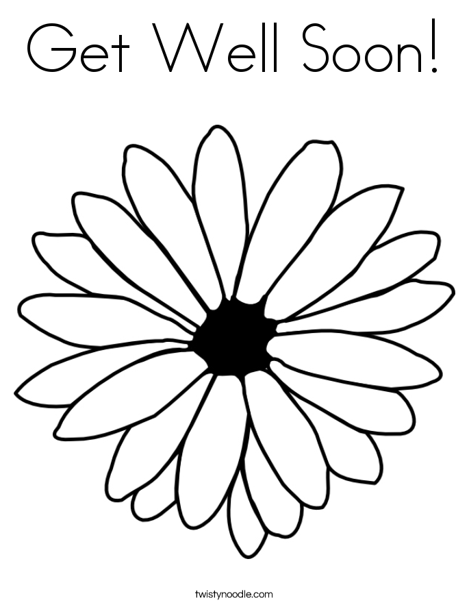 get well soon coloring pages free image