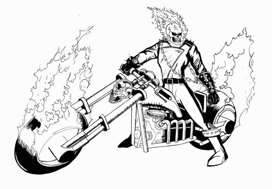 ghost rider coloring pages ghost rider pictures ghost