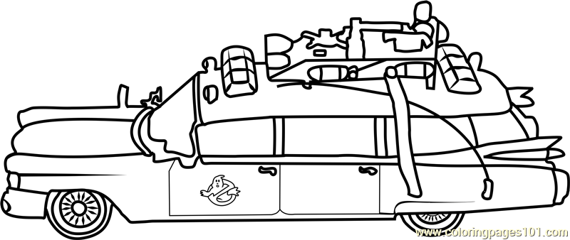 ghostbusters car coloring page free ghostbusters coloring
