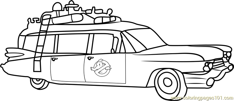 ghostbusters van coloring page free ghostbusters coloring