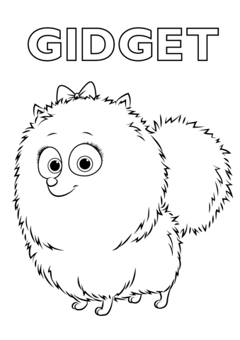 gidget from the secret life of pets coloring page free