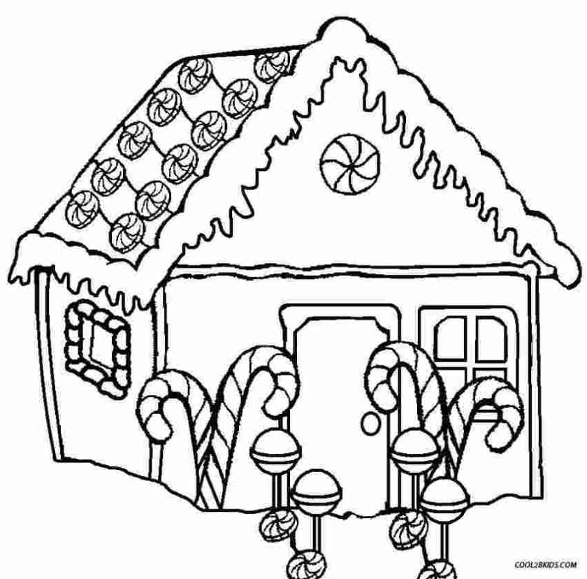 gingerbread house coloring pages for toddlers gingerbread