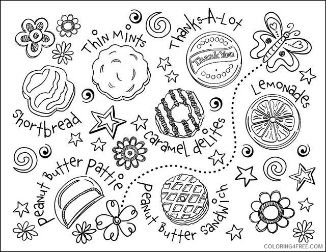girl scout coloring pages cookies coloring4free
