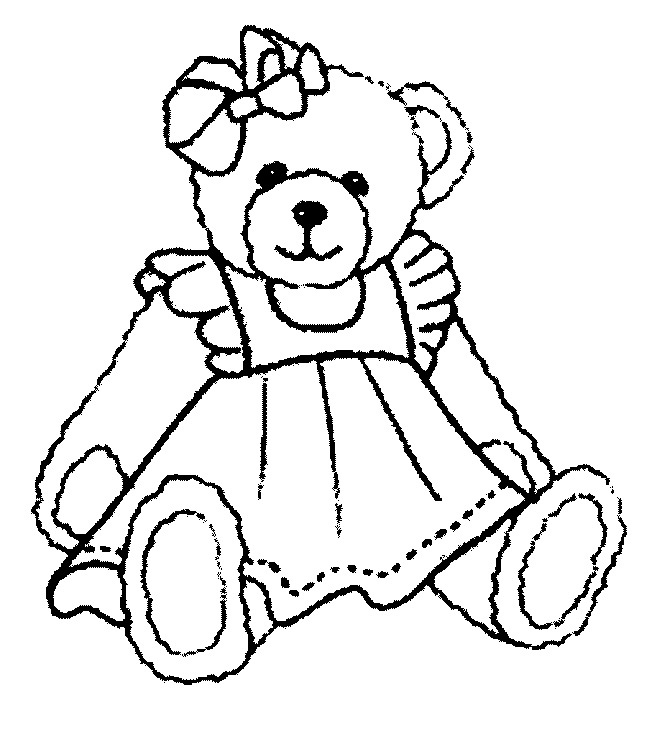 girl teddy bear coloring pages coloringme