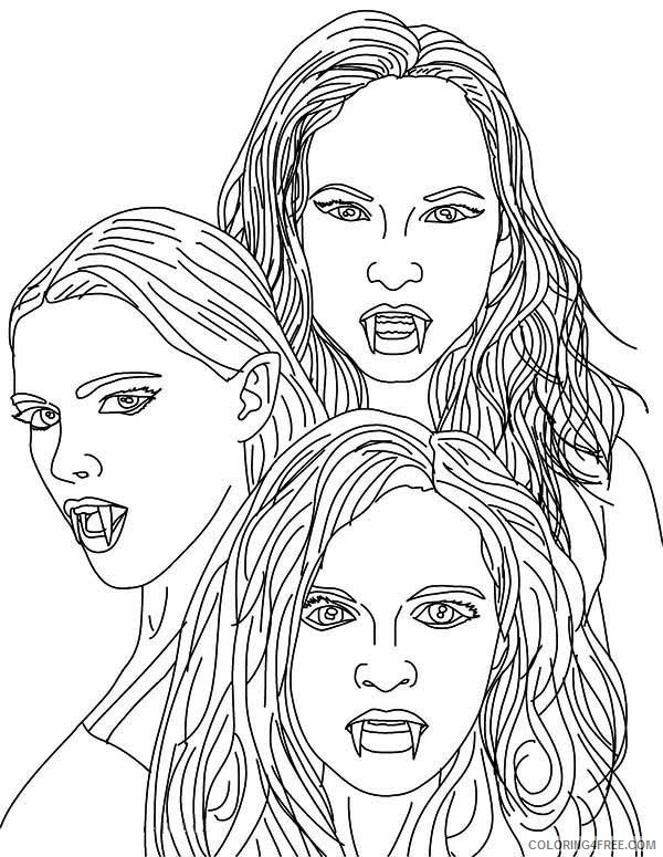 girls vampire coloring pages coloring4free coloring4free