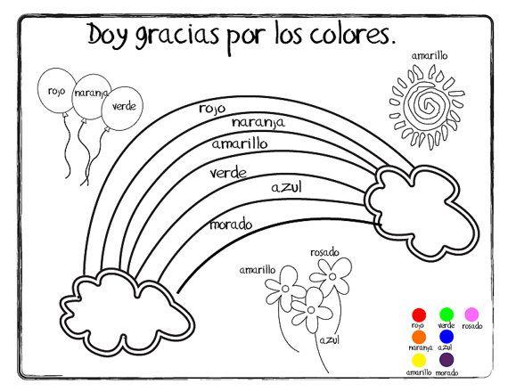 giving thanks doy gracias coloring page printable
