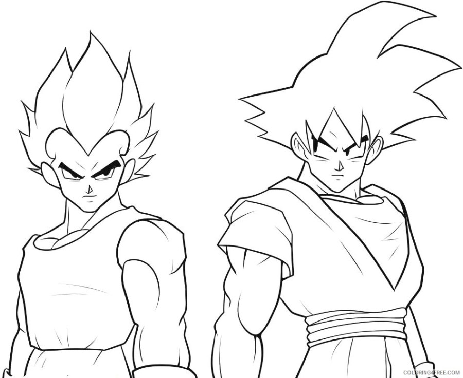 goku coloring pages and vegeta coloring4free coloring4free