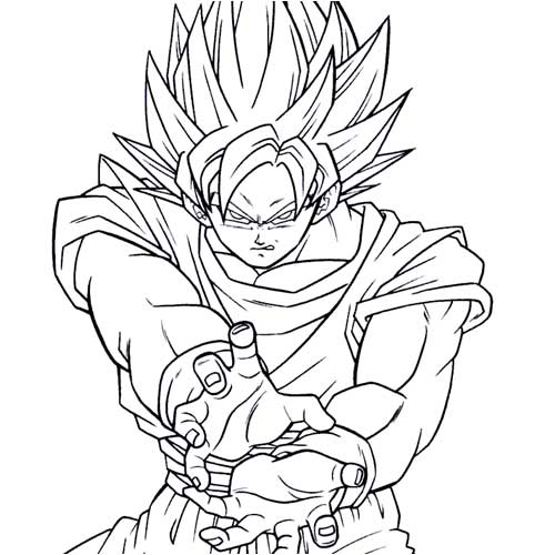 goku coloring pages for kids and for adults clip art library