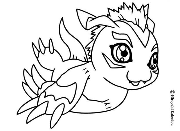 gomamon digimon coloring pages hellokids