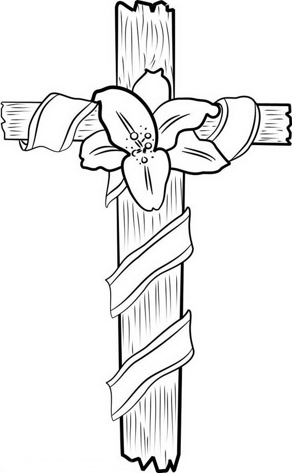 good friday coloring pages and pintables for kids cross