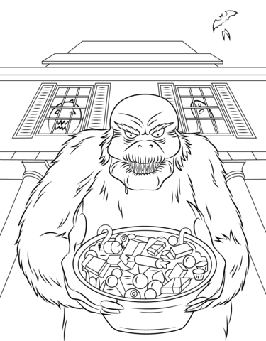 goosebumps coloring page free printable coloring pages