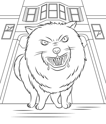 goosebumps horrorland coloring page free printable