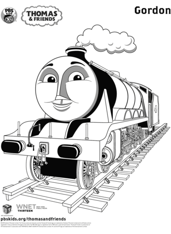 gordon from thomas friends coloring page free printable