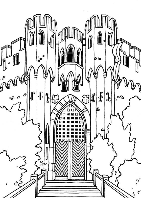 great castles games castle coloring book