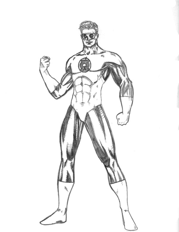 green lantern 1 superheroes printable coloring pages