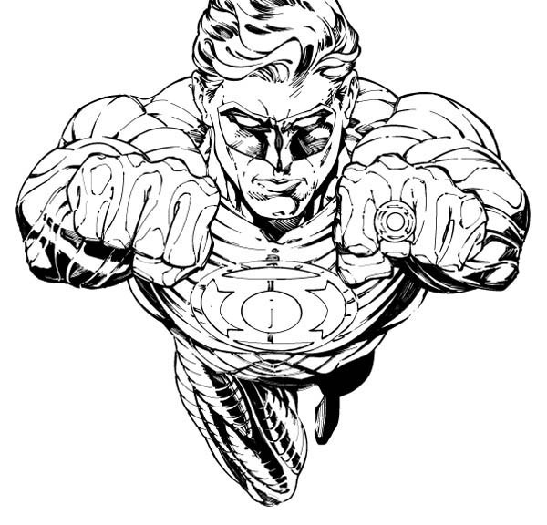 green lantern coloring pages 360coloringpages