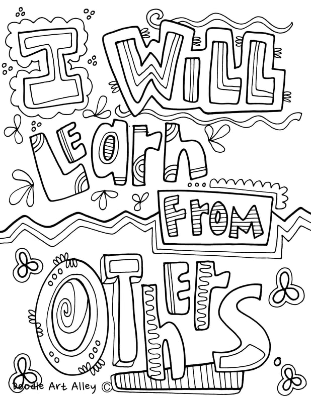 growth mindset coloring pages classroom doodles