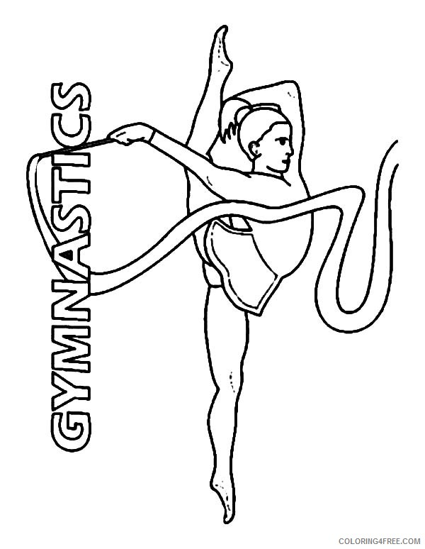 gymnastics coloring pages rhythmic gymnastics ribbon