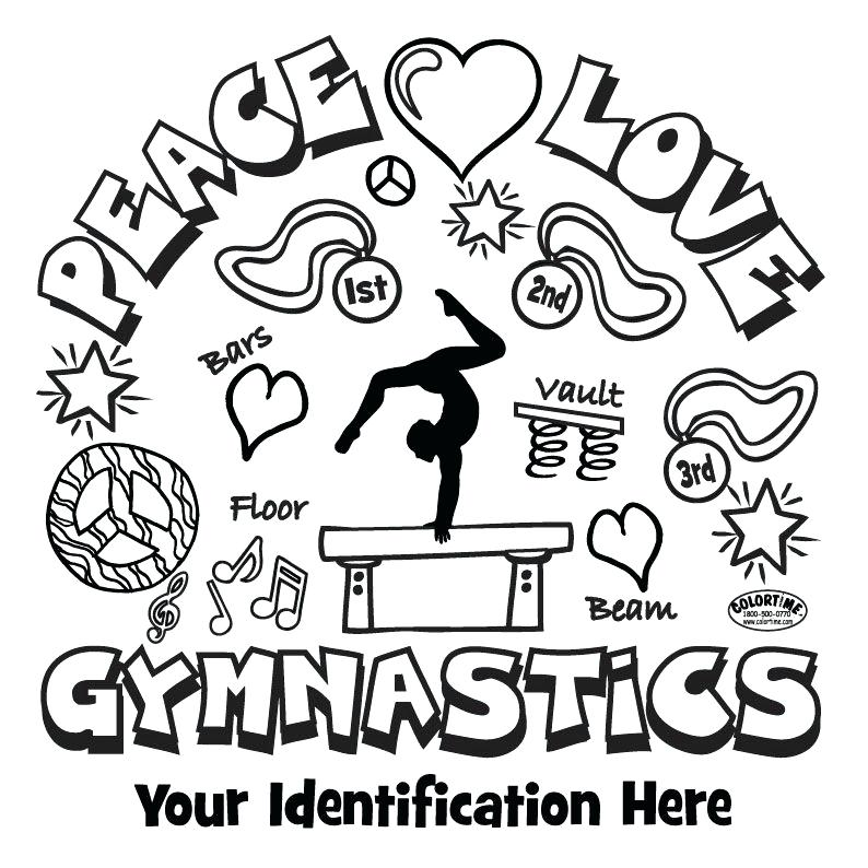 gymnastics coloring pages to print