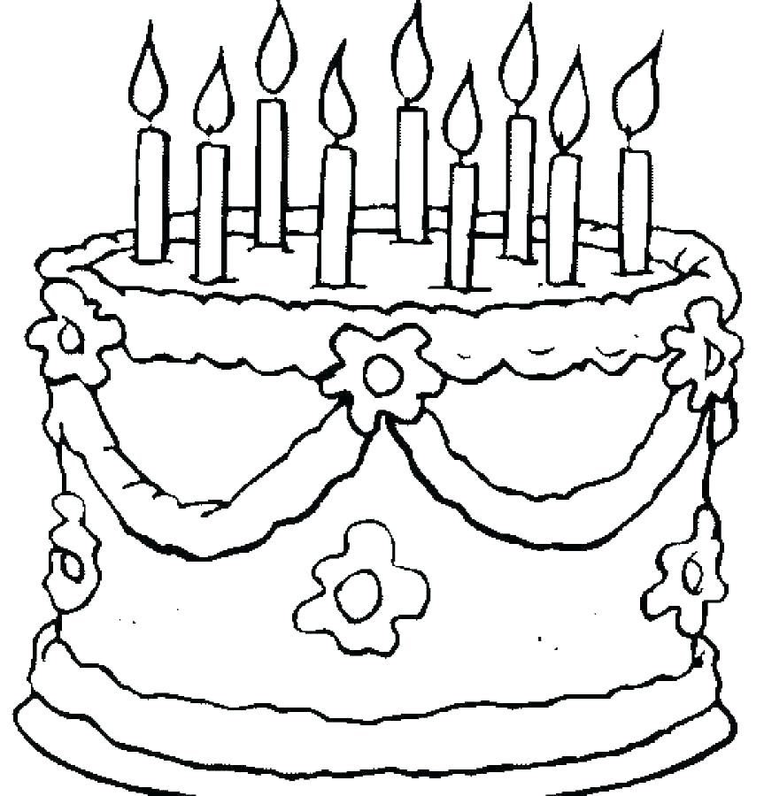 happy birthday cake coloring page lescopscreation