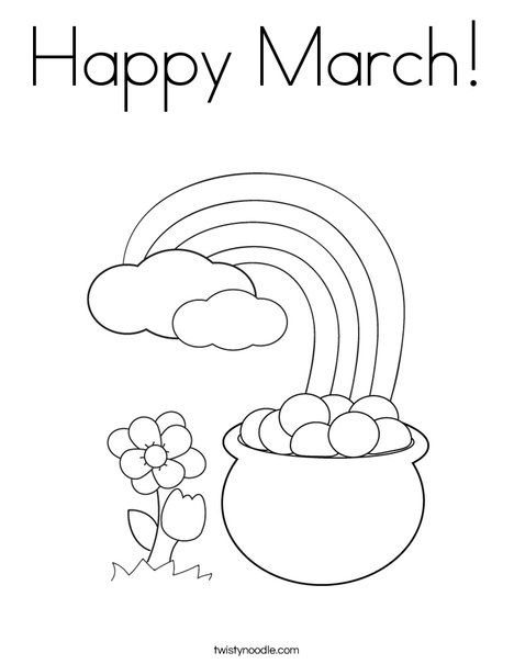 happy march coloring page from twistynoodle coloring