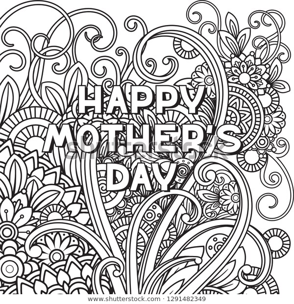 happy mothers day coloring page adult backgroundstextures