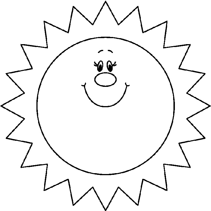 happy sun coloring pages at getdrawings free for