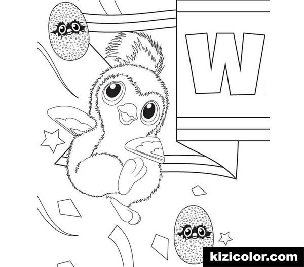hatchimal pages cute penguala clipart kizi free