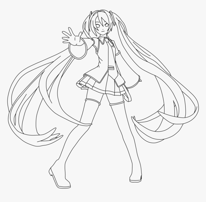 hatsune miku chibi coloring pages anime coloring pages