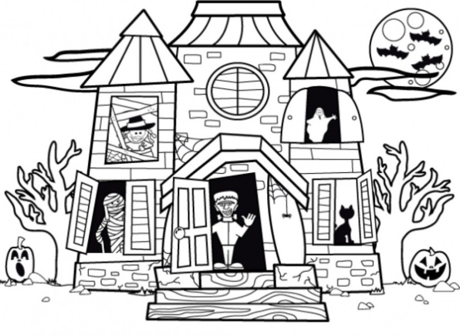 haunted mansion drawing free download best haunted mansion