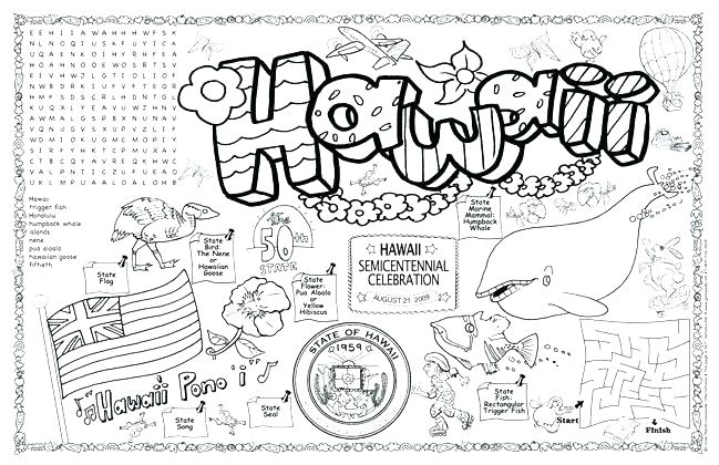 hawaii coloring pages at getdrawings free for personal