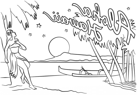 hawaii coloring pages crafted here