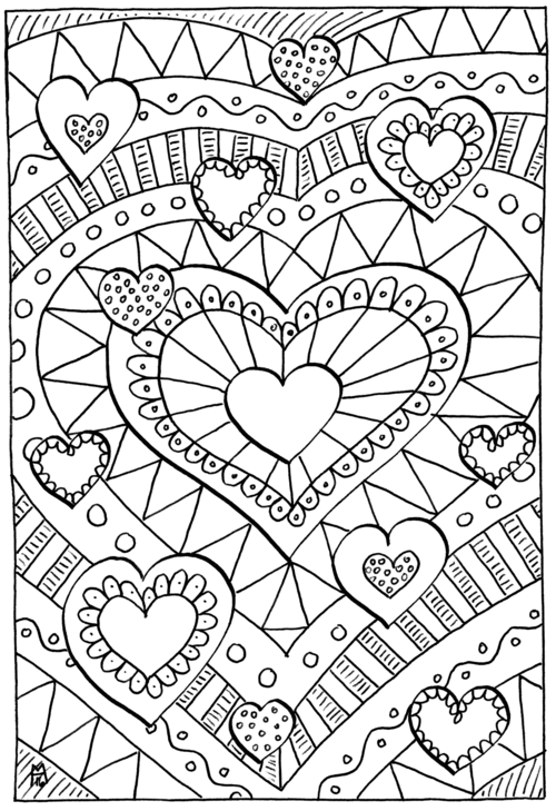 healing hearts coloring page printable valentines coloring
